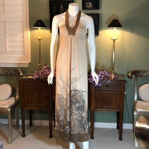 GUC -Printed in shades of brownMaxi dress halter